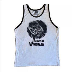 Star Wars Chewbacca large tank top shirt wingman
